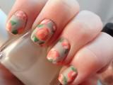 vintage floral manicure