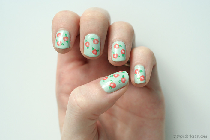 Picture of simple floral nail art prinsesfo Gallery