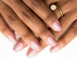 pink ombre glitter mani