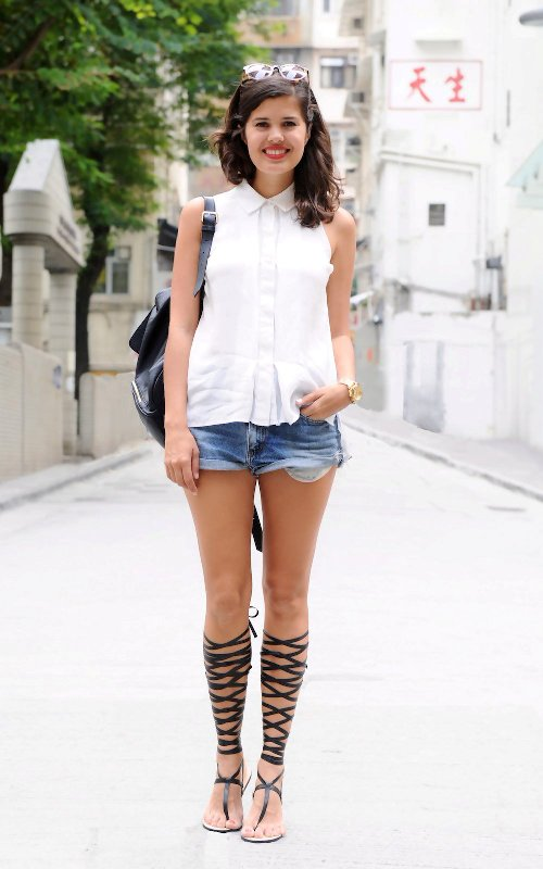 Picture Of awesome diy wrapped gladiator sandals  2