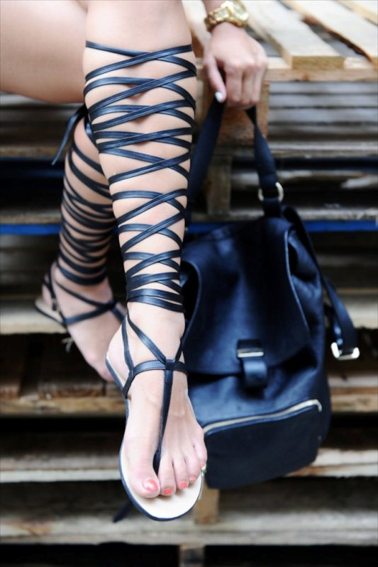 Picture Of awesome diy wrapped gladiator sandals  3