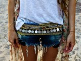 denim shorts is a must for a sexy summer boho look