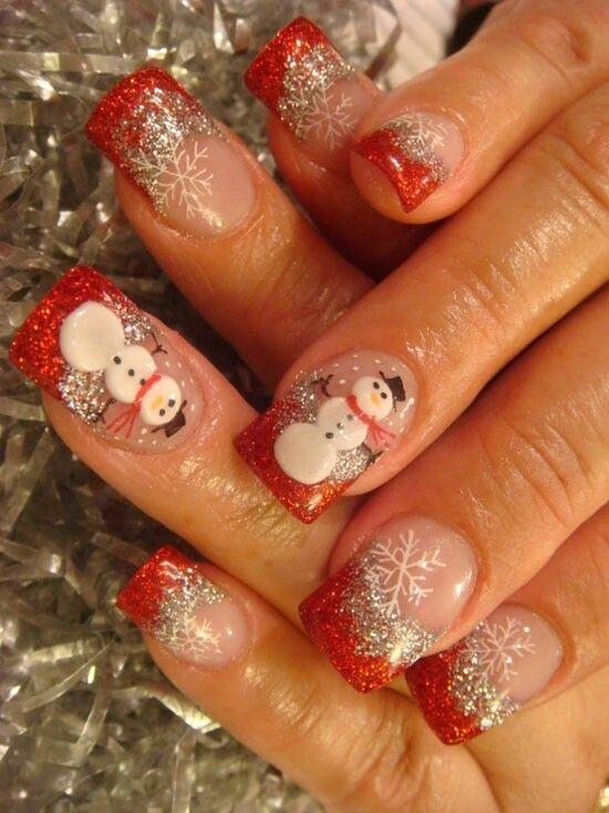 Рисунки новогодних ногтей новинки