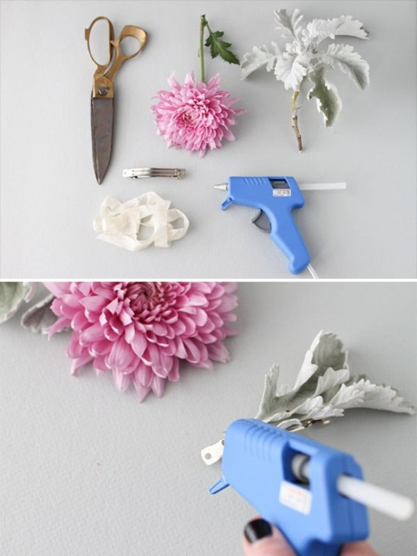 Picture Of beautiful and fresh diy flower hair accessory  2