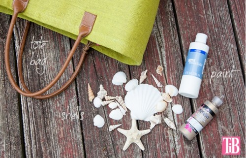 Beautiful DIY Beach Tote With Shells