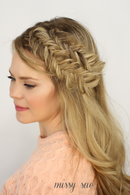 double fishtail headband braid