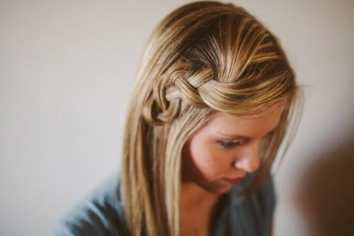 scrunched braid hairdo