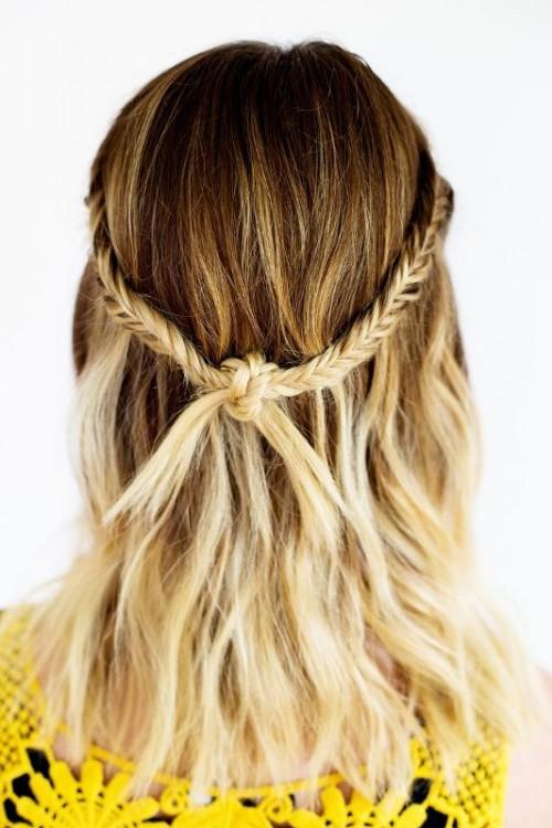 boho knot braid (via styleoholic)