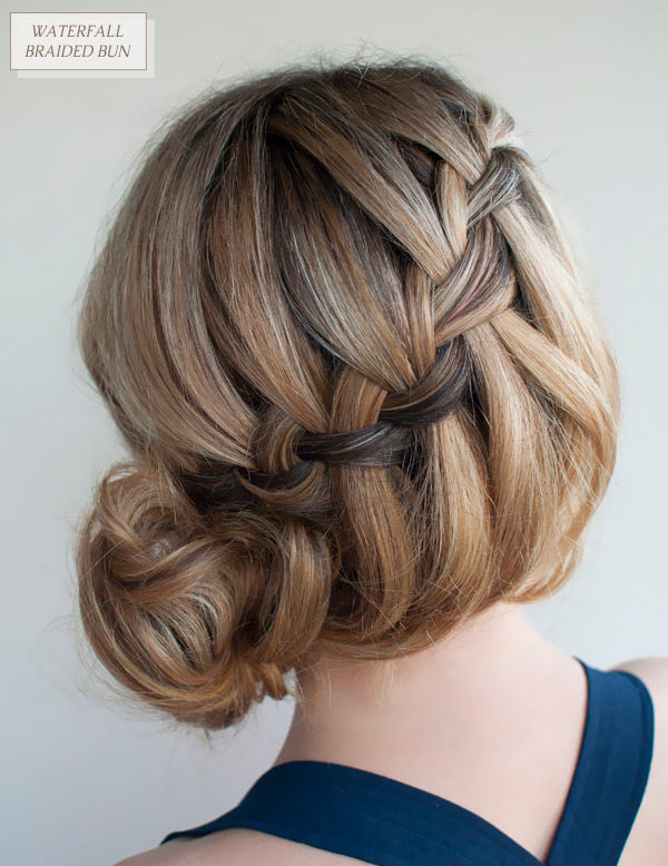 elegant braided bun