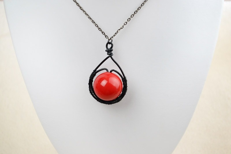 Picture Of beautiful diy cherry pendant necklace  1