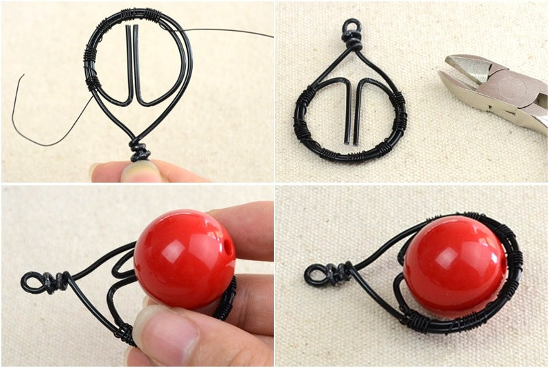 Picture Of beautiful diy cherry pendant necklace  4