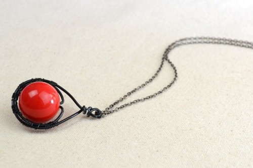Beautiful DIY Cherry Pendant Necklace