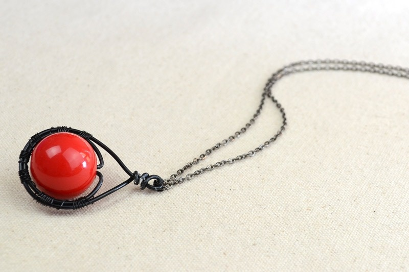 Picture Of beautiful diy cherry pendant necklace  6