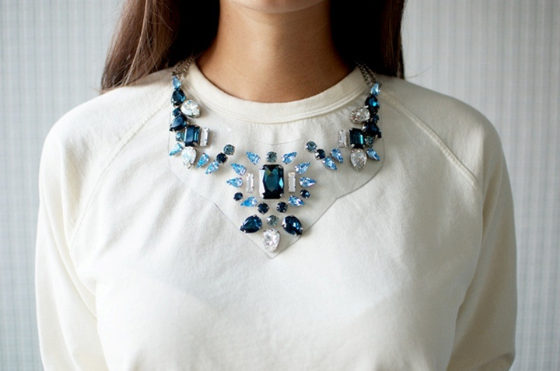 Picture Of beautiful diy rhinestone necklace inspired by shourouk  1