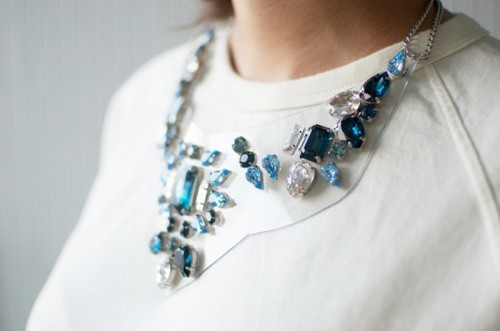 Beautiful DIY Rhinestone Necklace Inspired By Shourouk