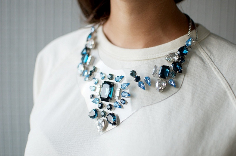 Picture Of beautiful diy rhinestone necklace inspired by shourouk  3