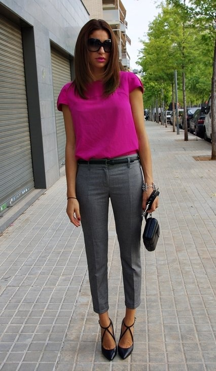 Picture Of beautiful pink work outfits for girls  16