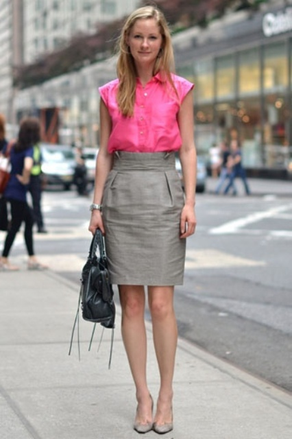 Picture Of beautiful pink work outfits for girls  3