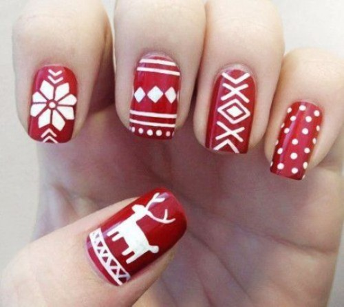 Picture Of best winter nail art 2014