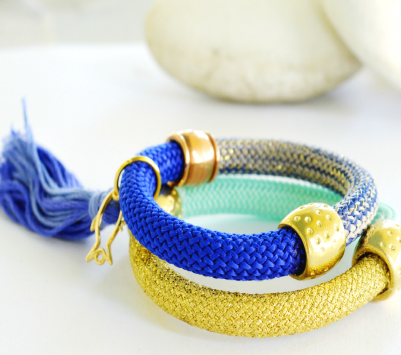 Picture Of bold and cheerful diy bracelets for summer  1
