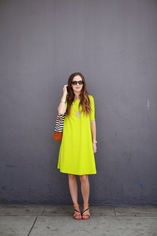 Picture Of bright and pretty diy summer swing dress  4