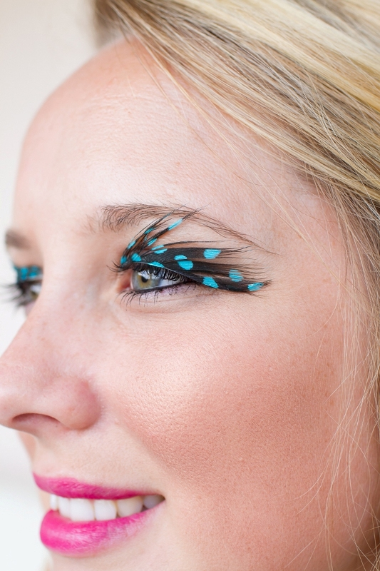 Picture Of bright and whimsy diy feather eyelashes  3