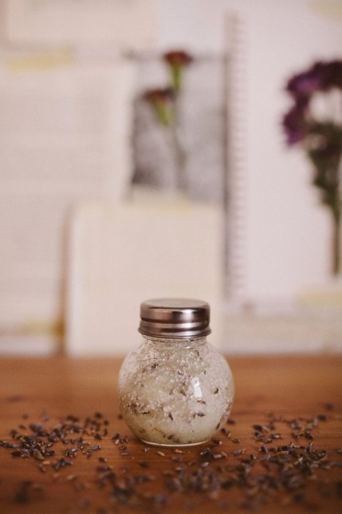 Calming DIY Lavender Salt Scrub