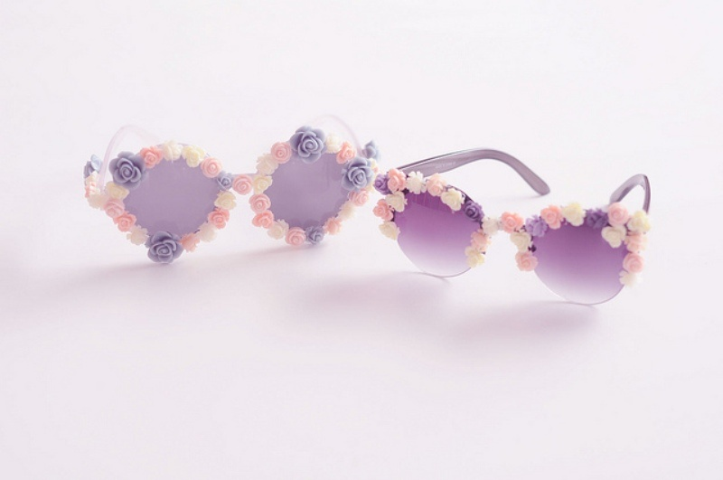 Picture Of candy like diy flower sunglasses upgrade for summer  1