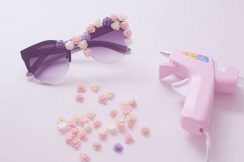 Picture Of candy like diy flower sunglasses upgrade for summer  2
