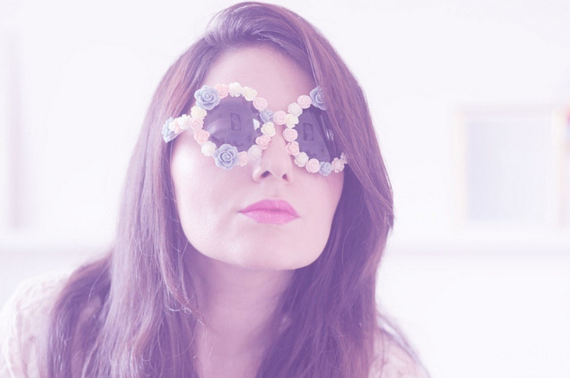 Picture Of candy like diy flower sunglasses upgrade for summer  3
