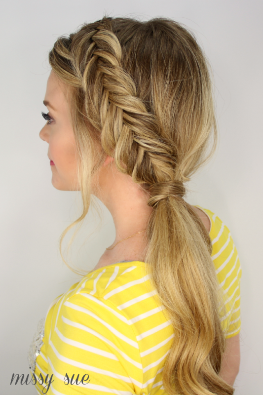 Picture Of casual diy dutch fishtail side pony  1