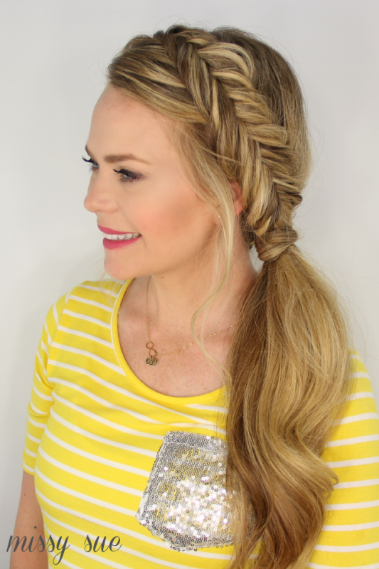 Picture Of casual diy dutch fishtail side pony  2