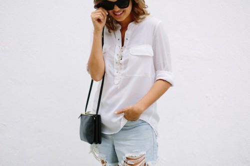 Casual DIY Laced Up Top For Summer