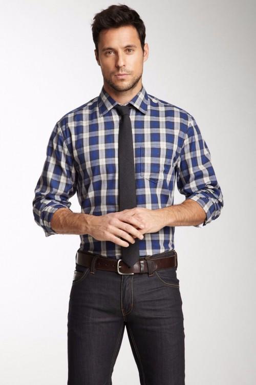 Plaid Shirts Mens Fashion