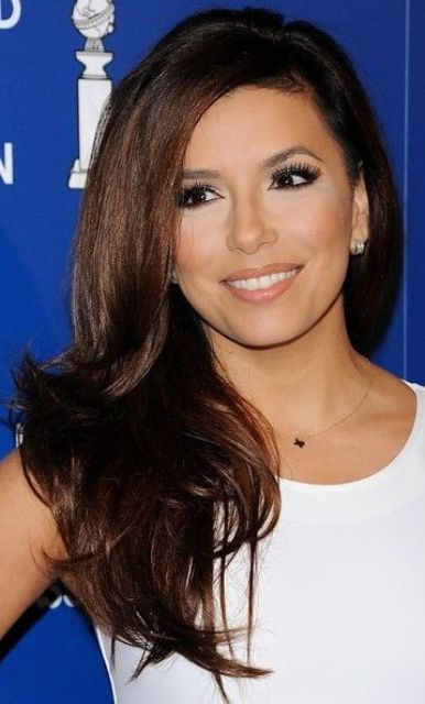 Picture Of celebrities brown hair ideas that you gonna love  7