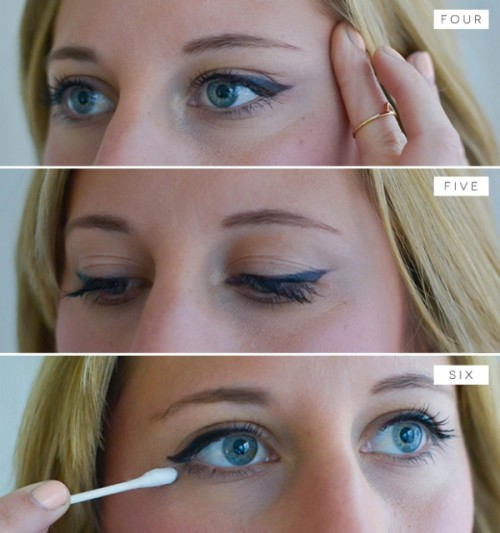 Charming DIY Cat Eye Makeup With A Liquid Liner