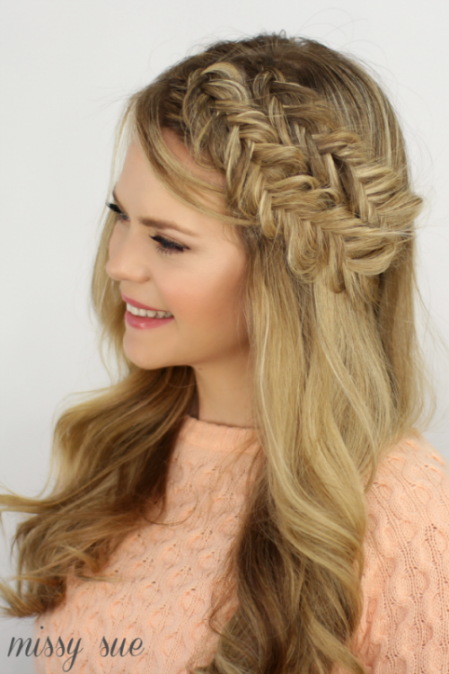 Charming DIY Double Fishtail Headband Braids To Make