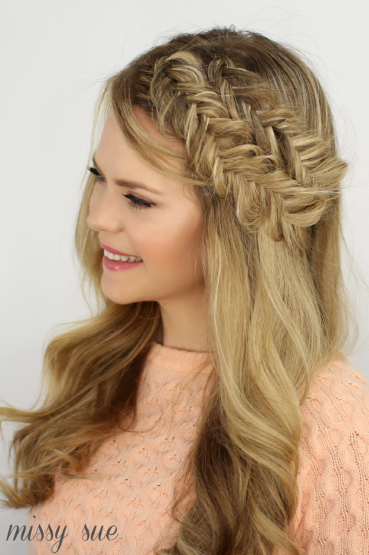 Picture Of charming diy double fishtail headband braids to make  2