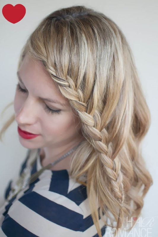 Picture Of charming diy lace braid hairstyle  1