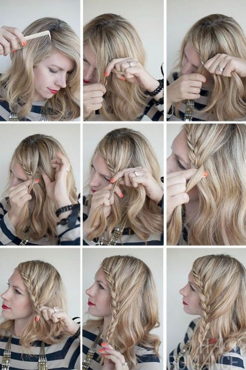 Charming DIY Lace Braid Hairstyle
