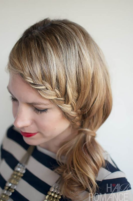 Picture Of charming diy lace braid hairstyle  3