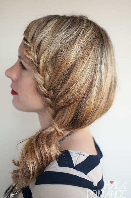 Picture Of charming diy lace braid hairstyle  4