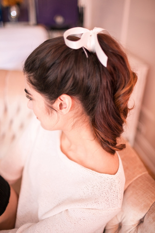 Picture Of charming diy parisian ponytail for a cozy christmas party  1