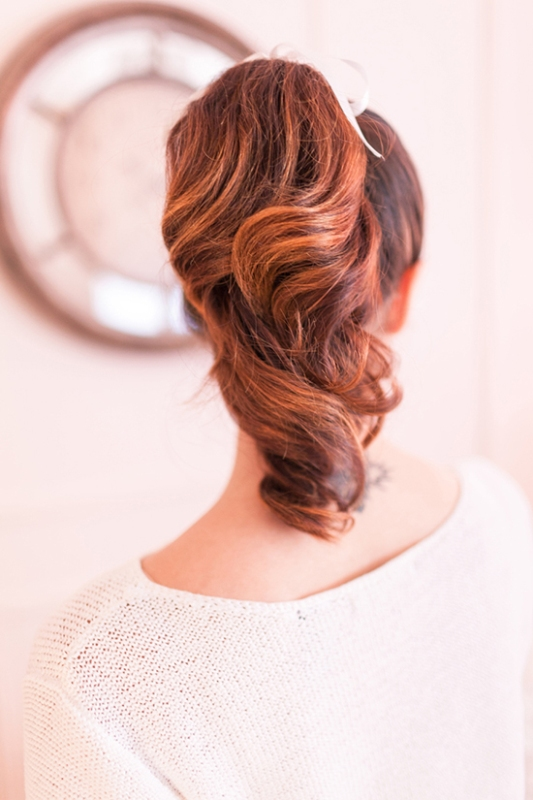 Picture Of charming diy parisian ponytail for a cozy christmas party  2