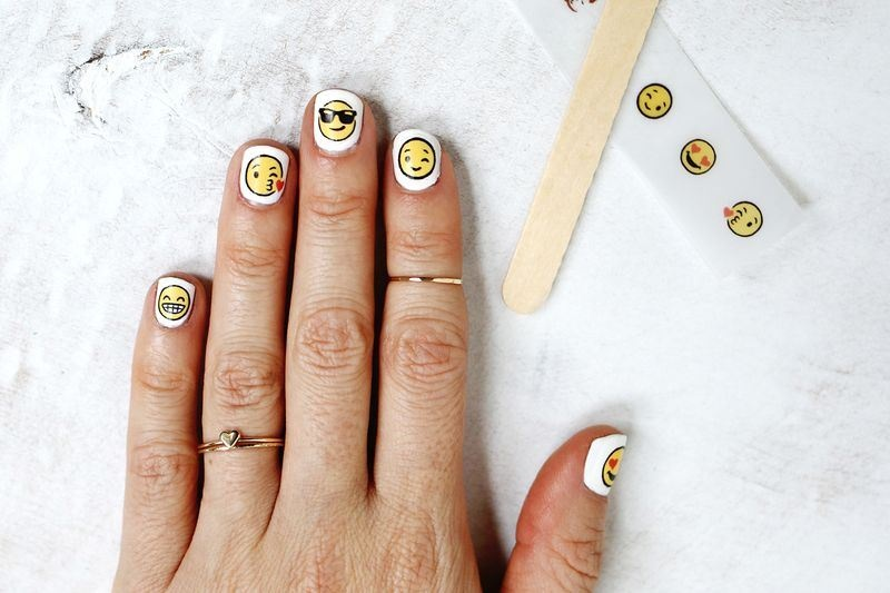 Picture Of cheeky and fun diy emoji nail art to try  1