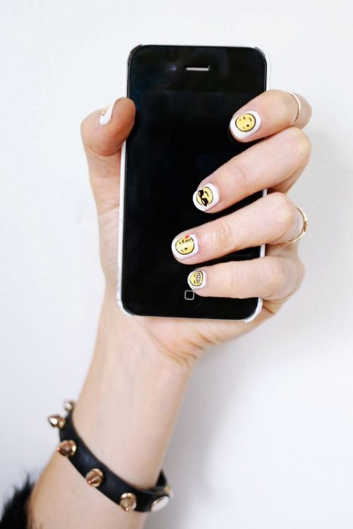 Cheeky And Fun DIY Emoji Nail Art To Try