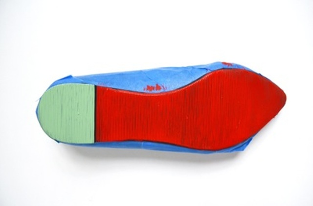 Picture Of cheerful and bold diy watermelon shoes  4