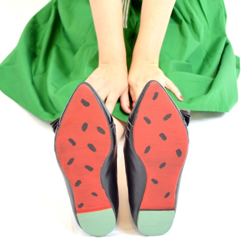 Picture Of cheerful and bold diy watermelon shoes  6