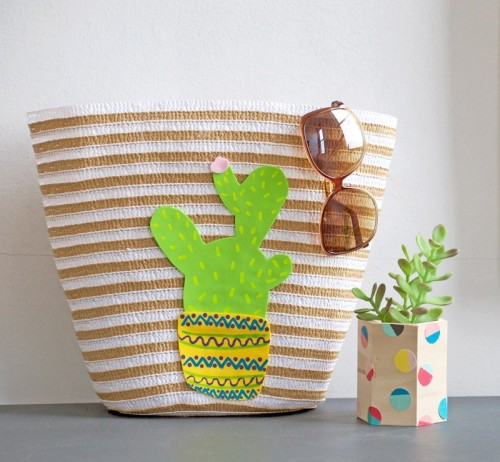 Cheerful DIY Cactus Tote Bag For Summer