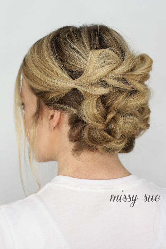 Picture Of chic and classy diy pull thru bun updo to try  1